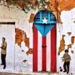 Puerto Rico Flag door Old San Juan