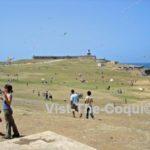 Chiringas at El Morro