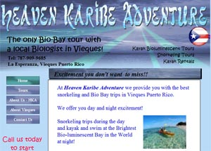 heaven karibe adventure kayak biobay