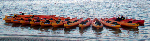 kayaks at fajardo bio bay