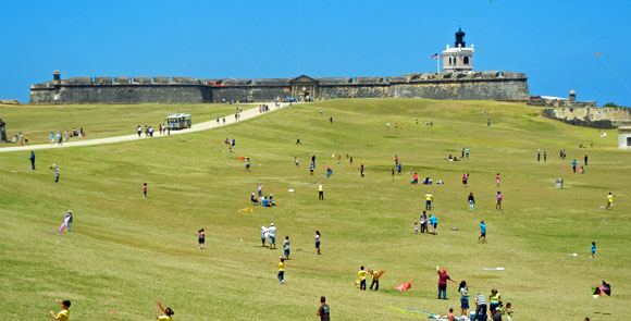 kid friendly old san juan, El Morro Fort and Esplanade