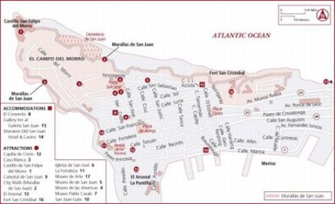 Pre or Post Cruise in Puerto Rico | Discovering Puerto Rico Puerto Rico Hotel Map on