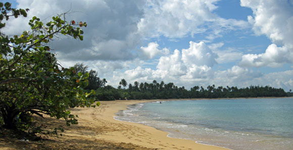 Beach at Pinones, Puerto Rico