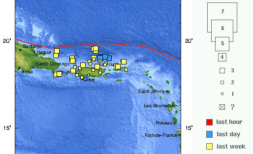 puerto rico earthquakes map
