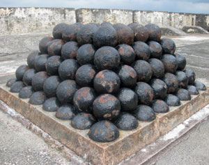 san cristobal fort mortar balls